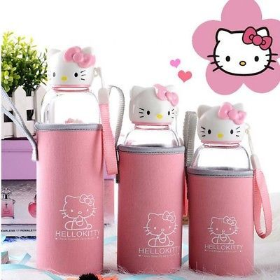 080e26c3de2 NEW Hello Kitty Water Bottle Portable High Quality Travel mug Cute Cartoon  Cups
