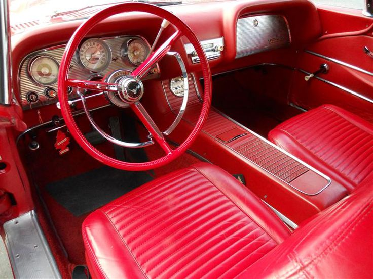 1959 Ford Thunderbird Coupe With Red Leather Interior Option Note The Non Original Steering