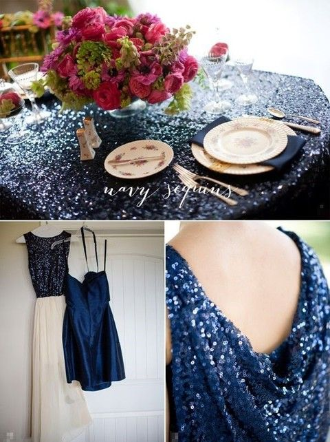 It's the middle of October and I'd like to share some color scheme for fall or winter with you. Today it's the most elegant combo – navy and gold! These colors together can look beautiful in any style: beach, boho, art deco...