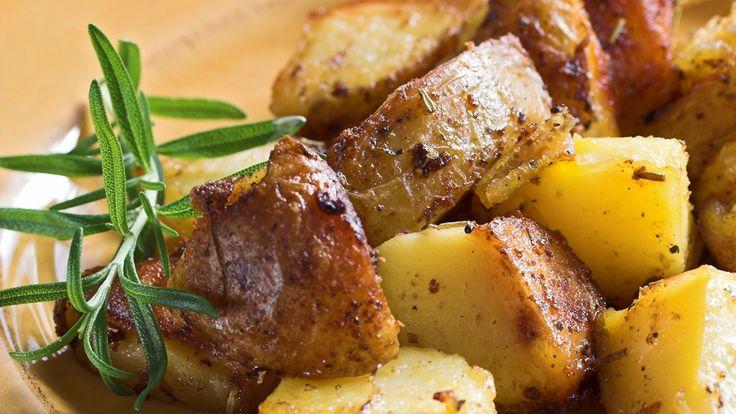 Pommes de terre grecques rôties au four
