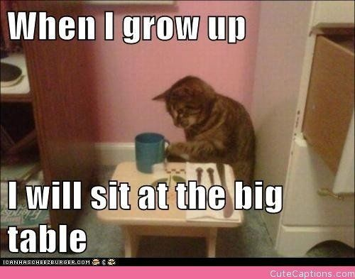 When I grow up I will sit at the Big Table thanksgiving thanksgiving pictures funny thanksgiving pictures thanksgiving humor thanksgiving memes thanksgiving image quotes thanksgiving 2015 quotes funny thanksgiving images