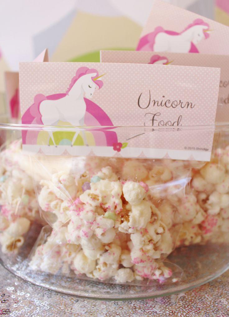 Simple unicorn food DIY! See more #unicornpartyideas on our blog! #unicorntheme #unicornbirthday