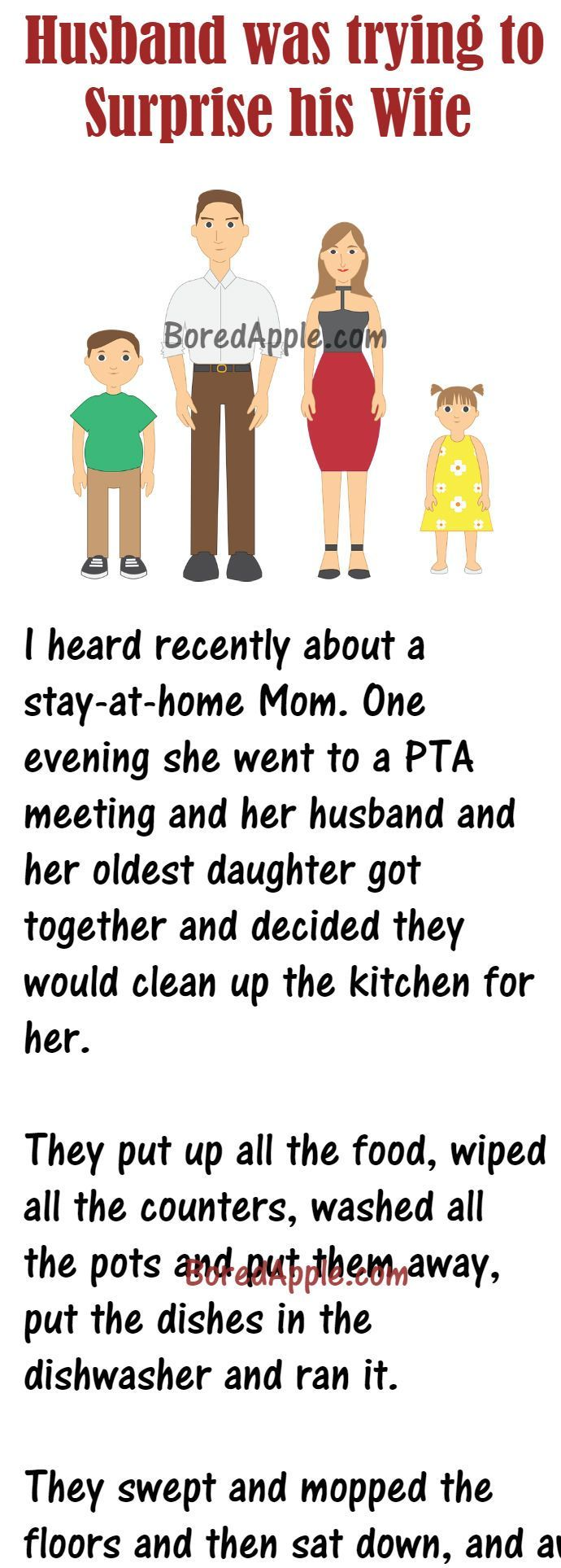When A Husband With Daughter Cleaned Up The Kitchen To Surprise His Wife Grandma Quotes Funny Grandma Quotes Funny Grandparent Quotes