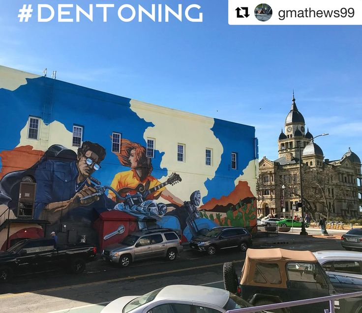 We don't care what the groundhog has to stay...it feels like spring and this shot by gmathews99 on IG of the Courthouse and Dan Black's newest mural on the side of Andy's Bar looks like it in our #Dentoning pic of the week! Check out all the events to do your #Dentoning at this week at our blog.