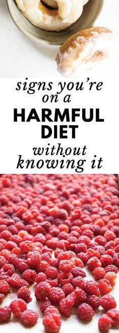 Many people are oblivious to the fact that they're on a harmful diet. Click to learn the signs and more importantly, what to do about it!
