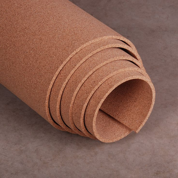"3/8"" thick cork roll, 4' x 3' lineal feet"