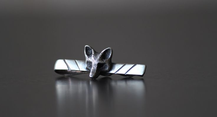 """The Fox Club """"Air Force"""" sterling silver tie bar. #TheFoxClub #TiePin #Silver #TieBar #GiftsForHim #Style #Suits #GroomsmenGifts"""