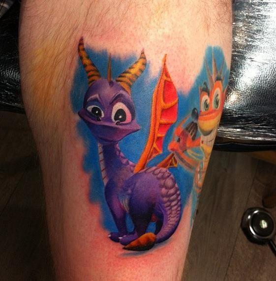 colourful | tattoos | Pinterest | Crash bandicoot and Tattoo