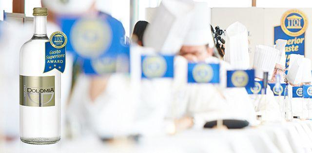Acqua Dolomia: per la seconda volta nel 2015 conquista le tre stelle d'oro internazionali del Superior Taste Award
