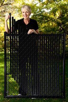 4ft Black Ridged Slats® for Chain Link Fence More