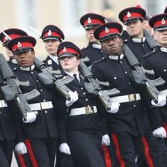 The Sovereign's Parade at the Royal Military Academy Sandhurst UK