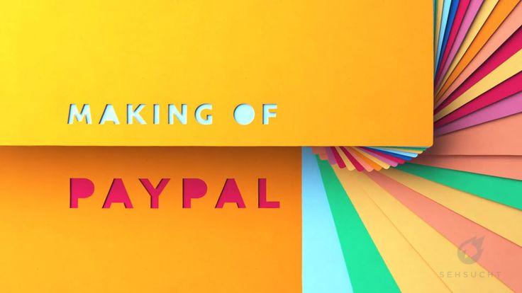 """메터리얼 디자인을 이용한 모션 그래픽 PayPal """"Stellt sich vor"""" Making Of"""
