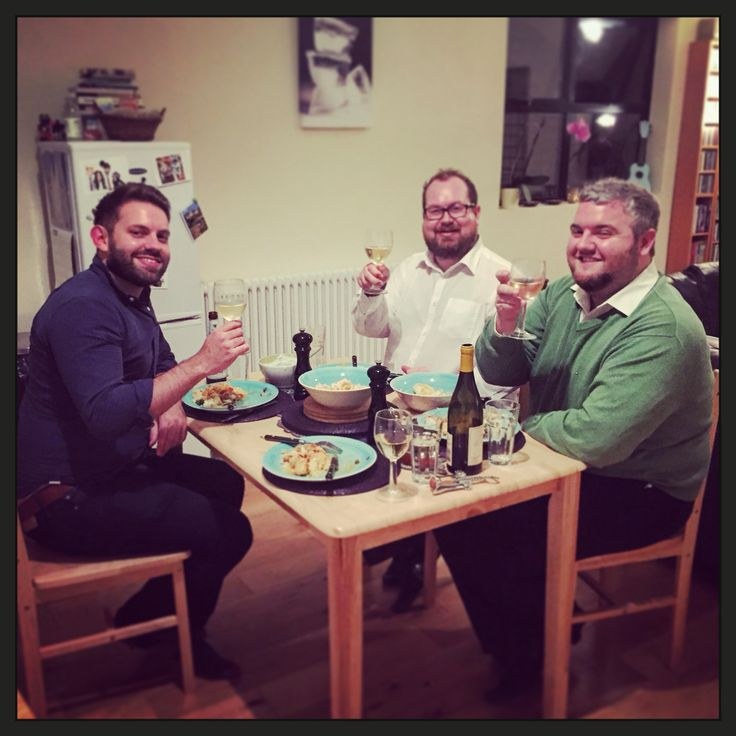 Three happy customers in Kat's Kitchen!