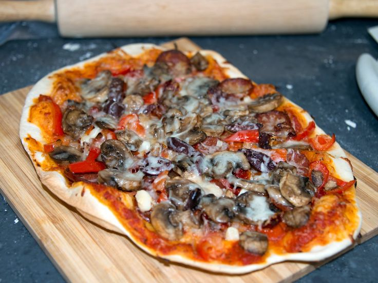 Our new blog shows how to make this delicious artisan red pizza!