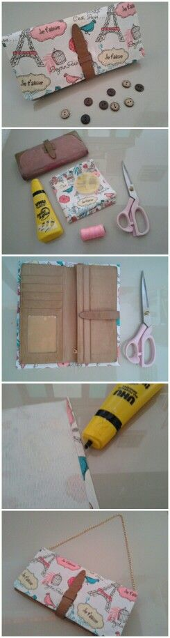 Recycle wallet for fashion item. DIY. My first