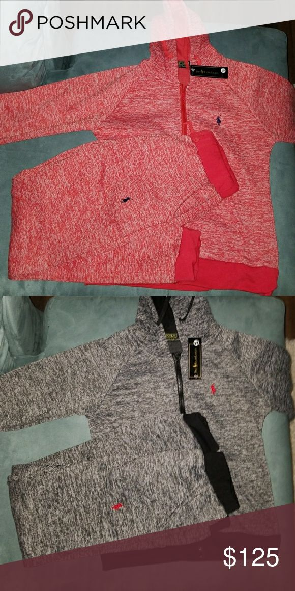Women's Polo Jogger Suits One is a pink Larger (top and bottom) the other is a Black Medium (top and bottom) but fits like a S/M. U.S. Polo Assn. Other