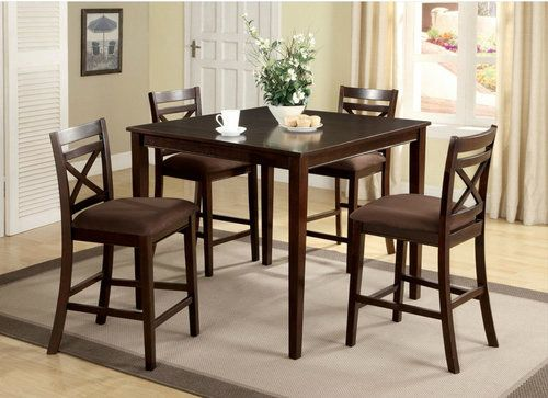 5 PC Furniture of America Weston I Counter Height Dining Room Table Set CM3400PT-5PK & 53 best Counter Height Dining Table Sets / Pub Table Sets images on ...