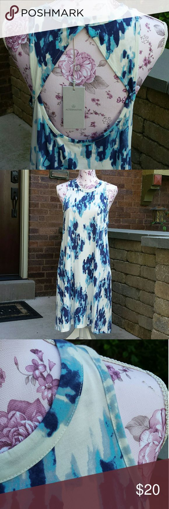 Alternative Apparel Dress Tank Style Open back  2 side pockets Alternative Apparel Dresses