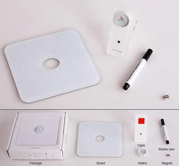 Доска-планнер с часами – это небольшой стильный планшет с часами в центре. Поверхность планшета разделена на сегменты в соответствии с делением циферблата часов, что позволяет вам эффективно и, что немаловажно, наглядно планировать свой день. Писать на планнере можно стандартным маркером для досок. На задней стороне планнера предусмотрена откидная подставка. Металлизированная тыльная поверхность доски позволяет вам ...