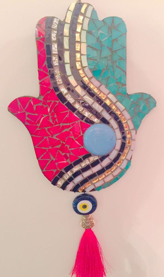 Glass Mosaic The Hamsa