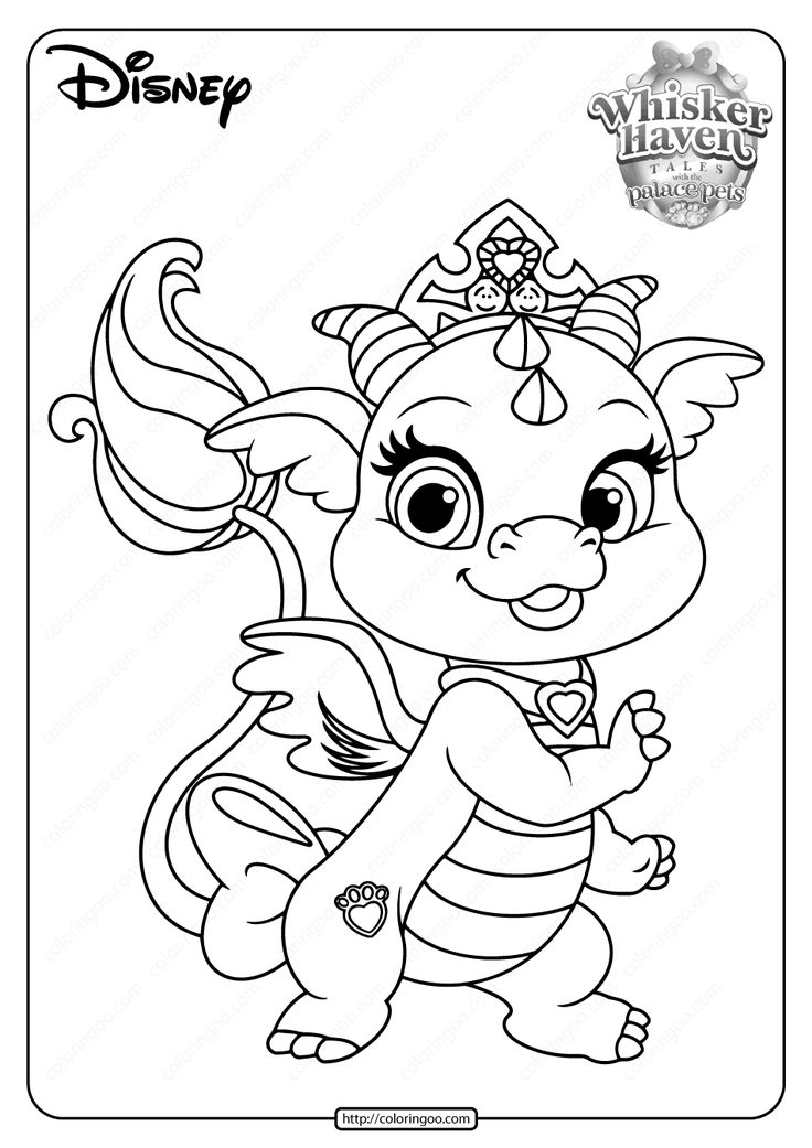Printable Palace Pets Ash PDF Coloring Pages in 2020 ...