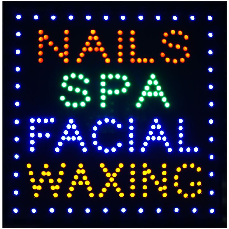 """19x19"""" NAILS SPA FACIAL WAXING LED Beauty Hair Tanning Salon Open Shop Sign neon #AhhaProducts"""