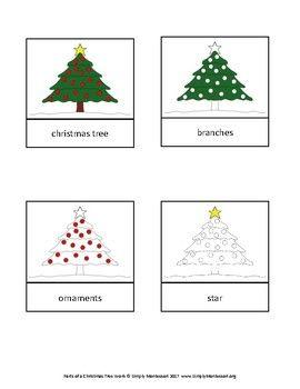 Parts Of A Christmas Tree Montessori Work Preschool Homeschooling Student Christmas Gifts Students Christmas Christmas Activities For Kids