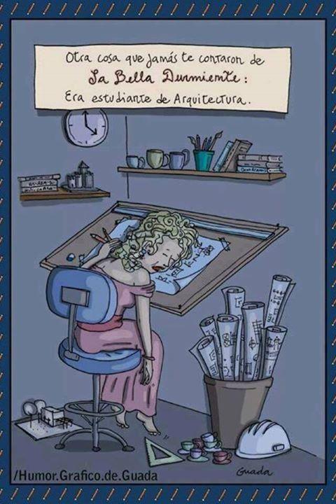 #Humor: La bella durmiente era estudiente de arquitectura. + @HumorArq en http://www.comunidadarquitectura.com/humor
