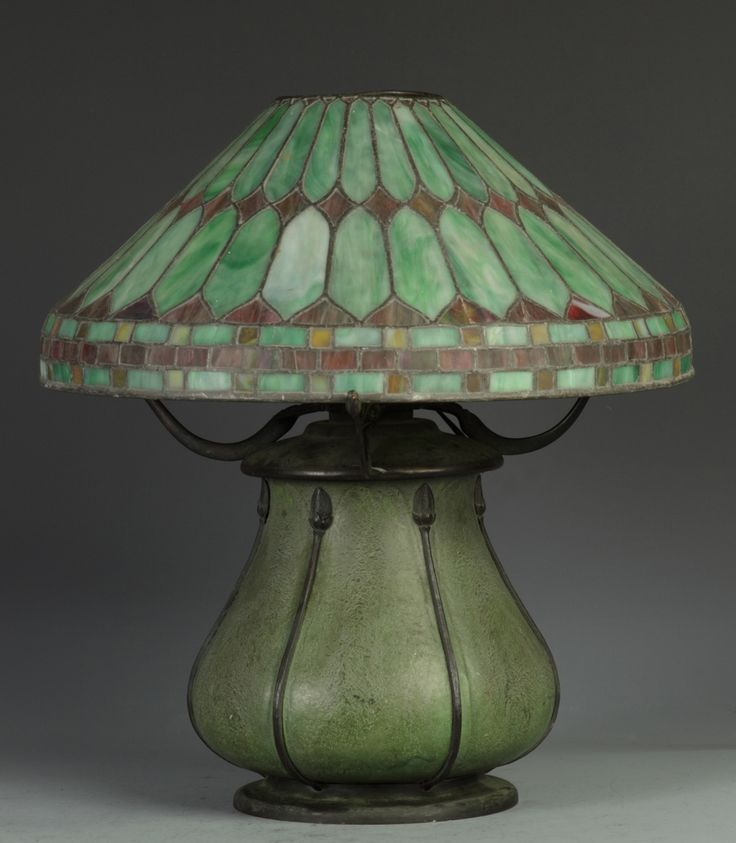 Illuminating lamps 유 grueby faience company table lamp pottery decorated by edith r find this pin and more on stained glass