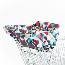Skip Hop TAKE COVER Shopping Cart  High Chair Cover  Triangles