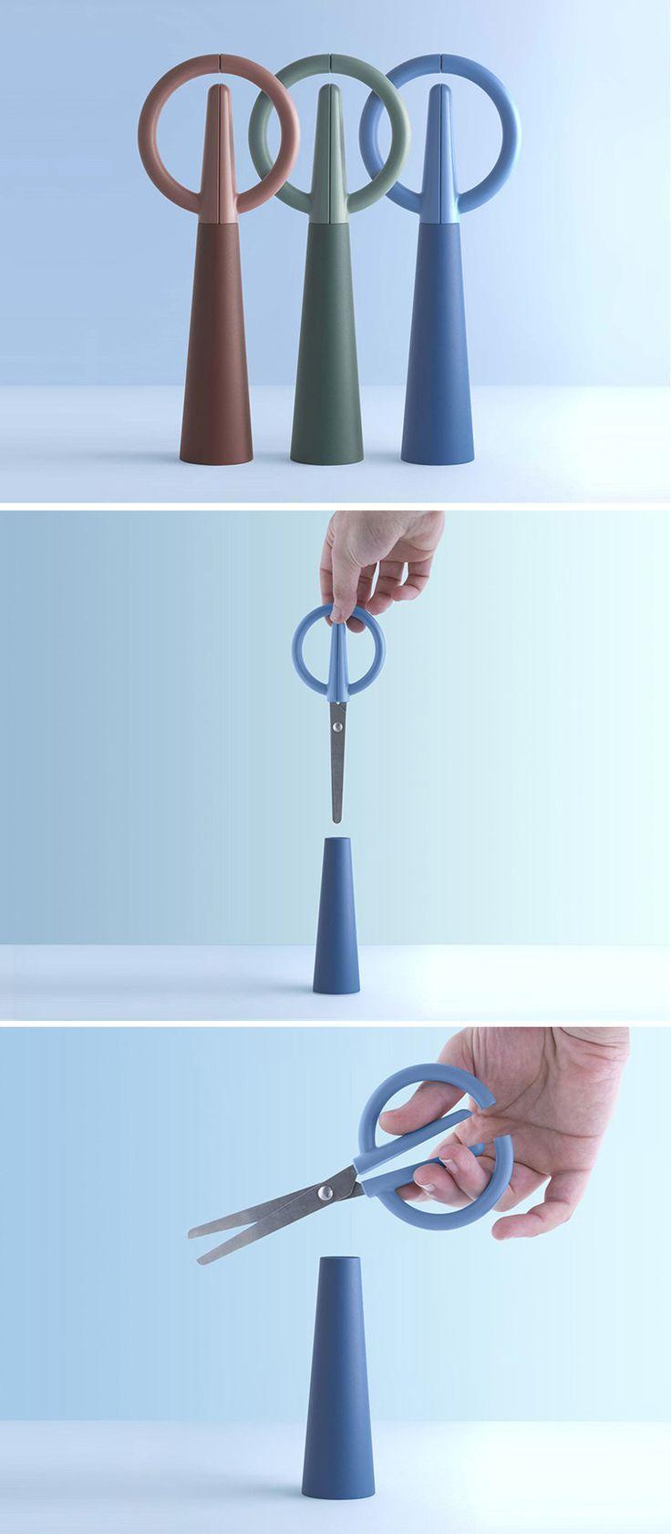 Alessio Romano Designs Scissors Hidden As A Decorative Object Product Design #productdesign