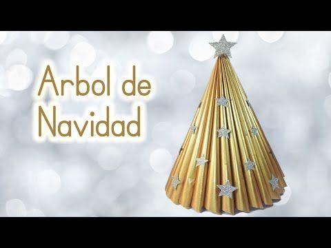 ▶ Manualidades para Navidad: ARBOL de NAVIDAD reciclando una revista - Innova Manualidades - YouTube