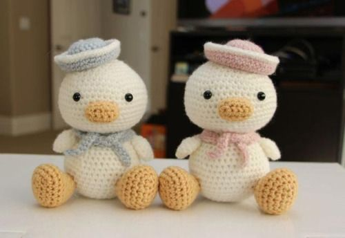 Lil Quack has a girlfriend. His pattern can be found in Zoomigurumi 1.