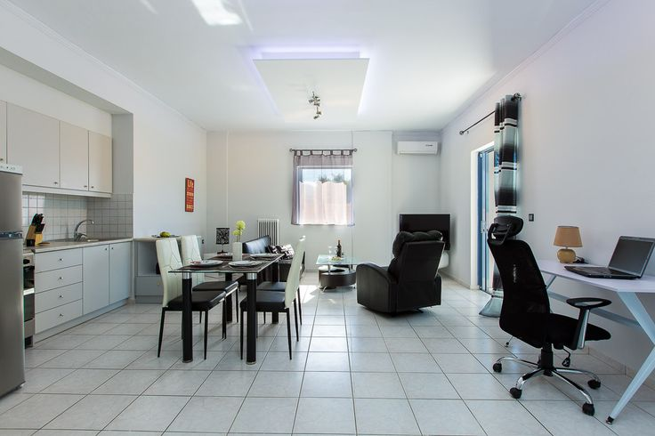 Villa Maria, Pigi village, Rethymno, Crete, Greece sinatsakisvillas.gr #villa #rethymno #crete #greece #village #island #vacation_rental #luxurious_accommodation #private #summer_in_crete #visit_greece #interior #livingroom #kitchen #dining_area