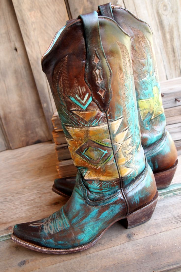 Painted boots by hd-west.com