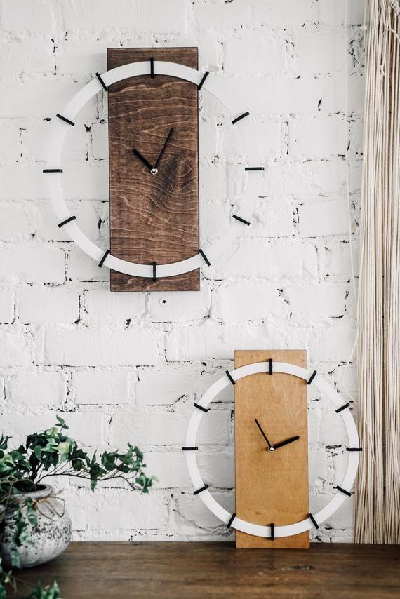 Wanduhr Wooden Interior 3d Modern Wall Clock Office Etsy In 2020 Scandinavian Wall Decor Wall Clock Modern House Gifts