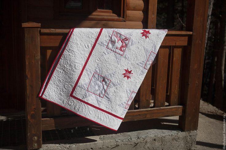 """Купить Лоскутное одеяло """"Северный олень"""" - лоскутное одеяло, детское лоскутное одеяло, детский плед"""