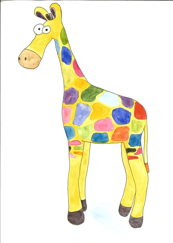 Piirsin ja maalasin tämän sateenkaarisemman kirahvin huovutetun kirahvin pohjalta. Maalattu vesiväreillä. I drew this rainbow giraffe based on the felted giraffe I posted before. It´s been painted …