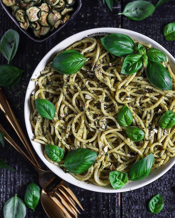 spaghetti bowl by @fitness_bianca  with vegan avocado cashew basil pesto #doablerecipes  spaghetti mit avocado-cashew-basilikum-pesto  спагетти с песто из авокадо базилика и кешью #doablerecipes