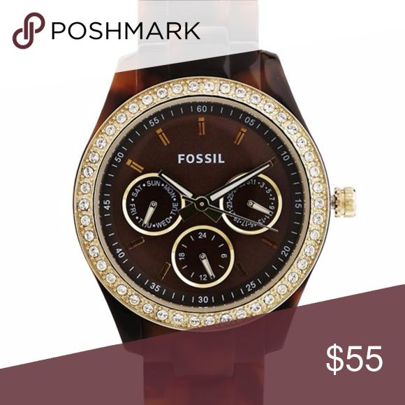 Fossil watch Women's tortoise Fossil watch (battery needs replaced) Fossil Accessories Watches