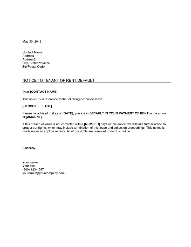 Standard Collection Letter Template  Letter Template