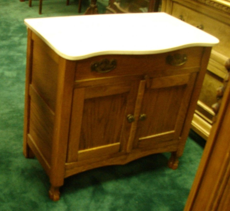 Image detail for -Antique Dry Sink - Small Marble Topped Cabinet : Lot 150C - 22 Best Dry Sinks Images On Pinterest Dry Sink, Prim Decor And