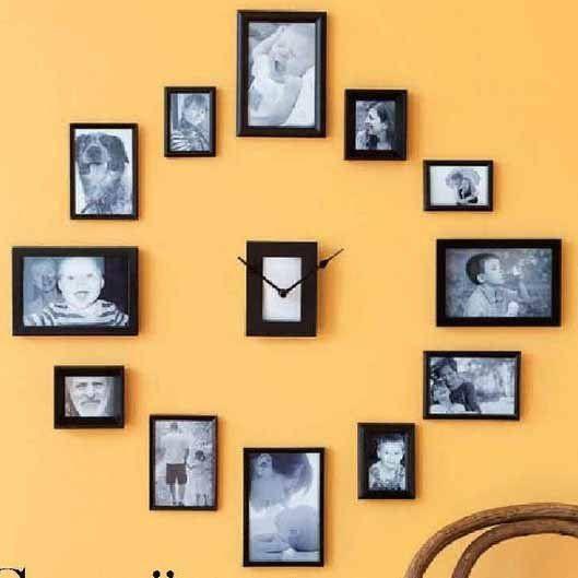 часы из фотографий на стену своими руками вязания
