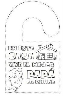 manualidades banderola puerta dia del padre