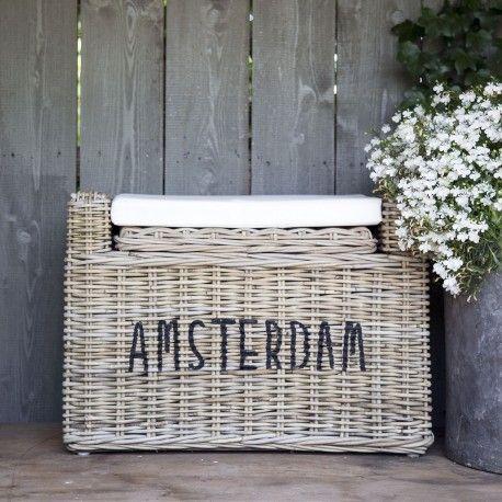 "Prachtige rotan bank ""amsterdam"" | Het mandenhuys"
