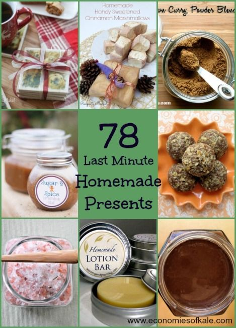 78 Last-Minute Frugal Homemade Christmas Presents | Economies of Kale