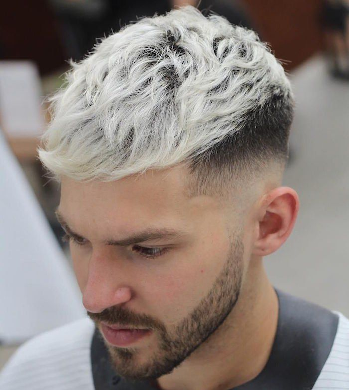 Men S Blonde Dye White Gold And Platinum Hipster Hairstyles