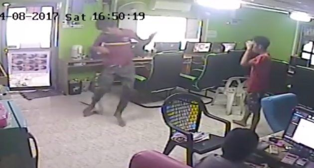 Coworkers busted on security cam