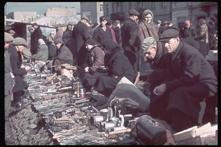 Jewish ghetto life, in color, from Hitlers photographer