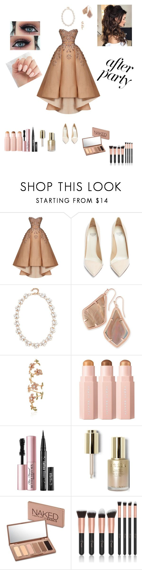 """After party"" by glitterqueenz ❤ liked on Polyvore featuring Maison Yeya, Francesco Russo, Stella + Ruby, Kendra Scott, Stéfère, Too Faced Cosmetics, Stila and Urban Decay"